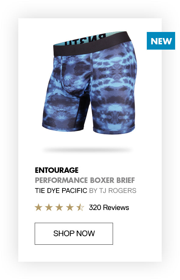 Entourage performance boardshorts made from recycled water bottles - athlete collab BN3TH x TJ Rogers skateboard