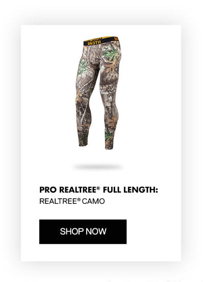 BN3TH Realtree Edge™ Camo full length base layer featuring MyPakage Pouch Technology is now available.