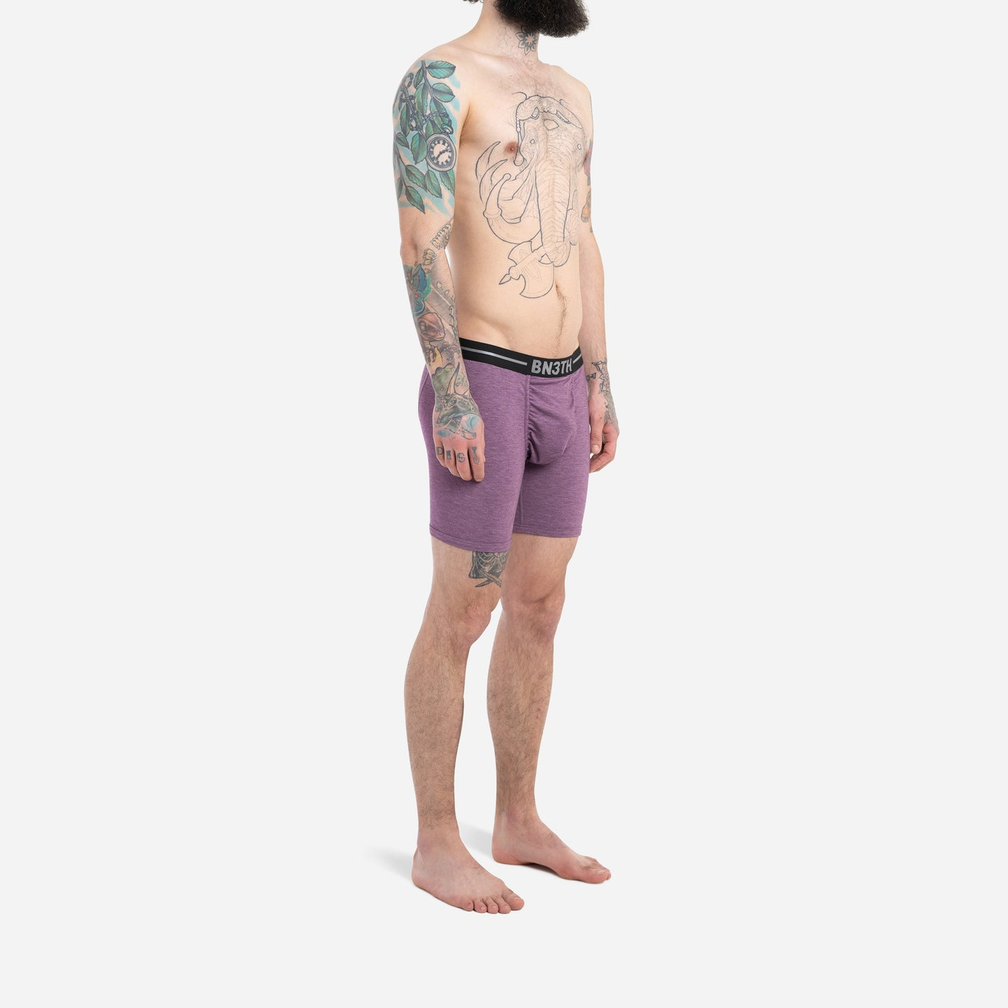 INFINITE IONIC+™ BOXER BRIEF : AUBERGINE