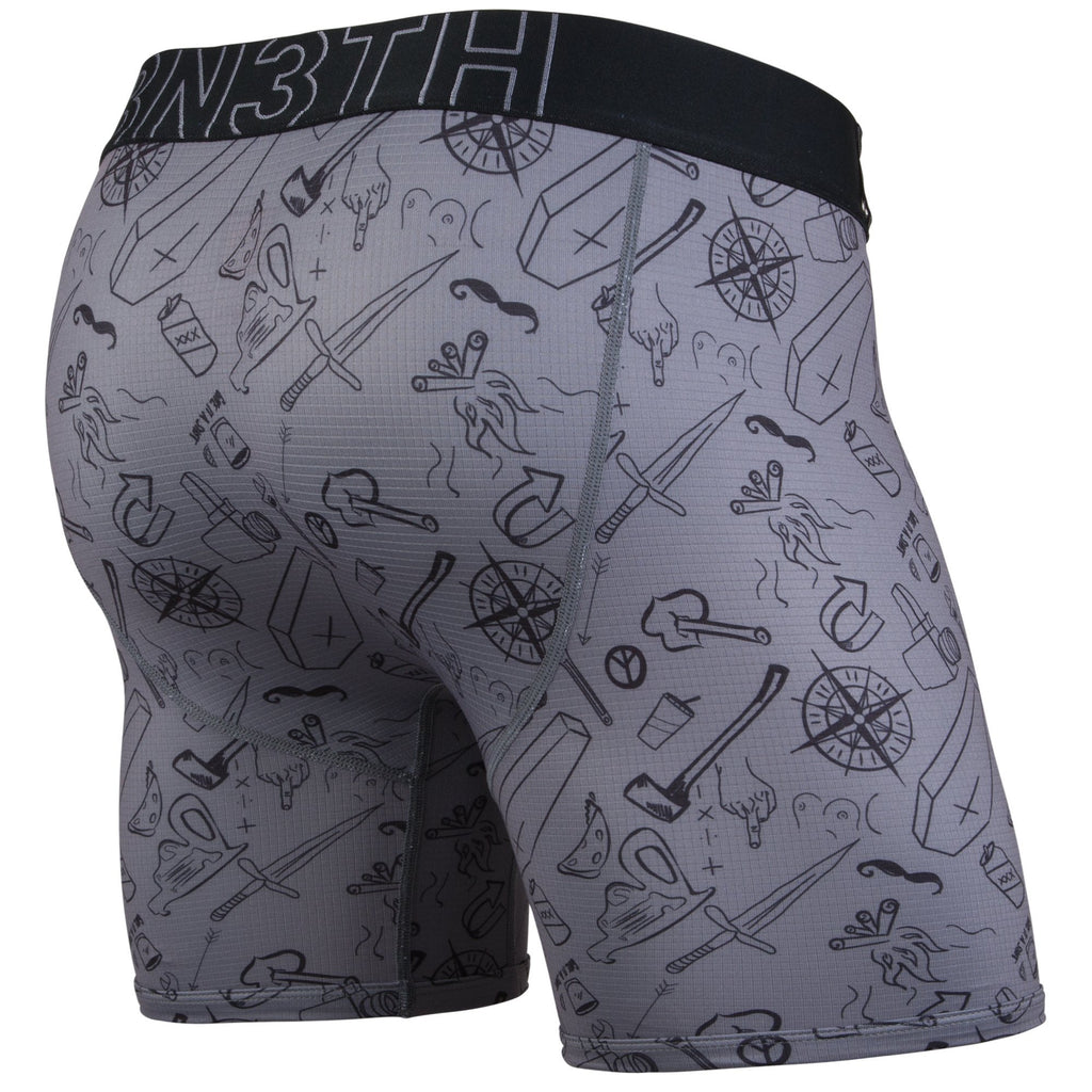 ENTOURAGE BOXER BRIEF: MORAL COMPASS/CHARCOAL