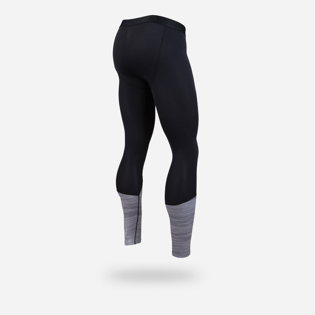 PRO COMPRESSION FULL LENGTH: BLACK HEATHER