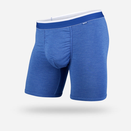 CLASSICS BOXER BRIEF: BLUE HEATHER/WHITE | Boxer Brief