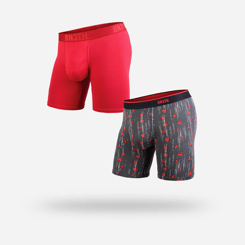 CLASSICS BOXER BRIEF 2-PACK: CRIMSON/CELEPAINT