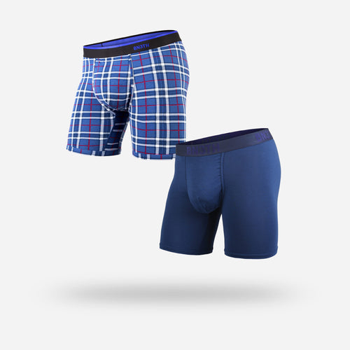 CLASSICS BOXER BRIEF 2-PACK: NAVY/FIRESIDE PLAID NAVY