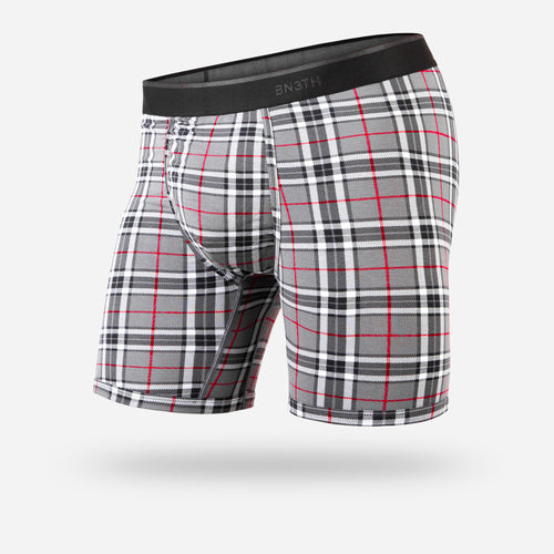 CLASSIC BOXER BRIEF: FIRESIDE PLAID GREY