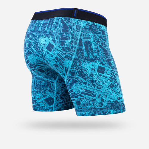 CLASSIC BOXER BRIEF: MECHANICS BLUE