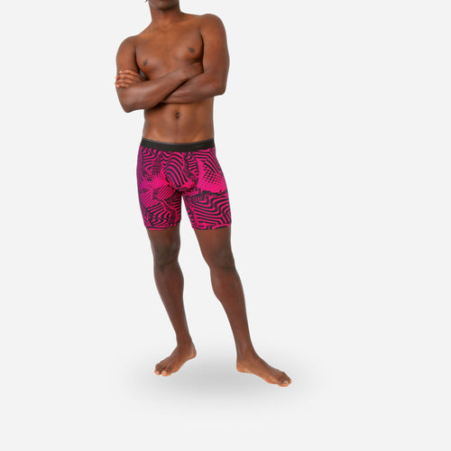 CLASSIC BOXER BRIEF: MIXTAPE PINK BLACK