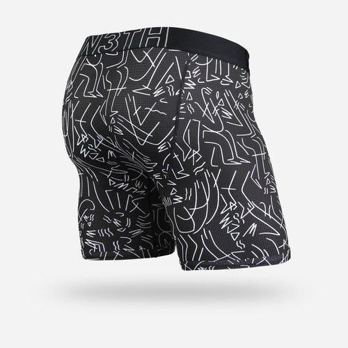 ENTOURAGE BOXER BRIEF: TJ X LB BLACK WHITE
