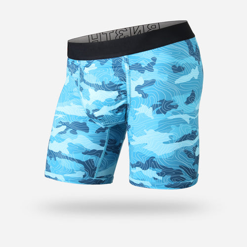 ENTOURAGE BOXER BRIEF: TOPO CAMO TEAL