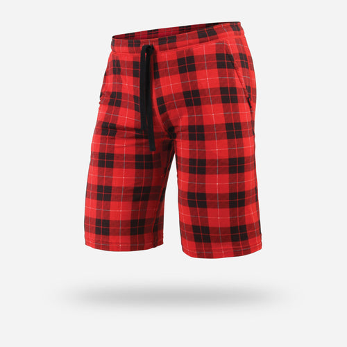 PJ SHORTS: FIRESIDE PLAID RED