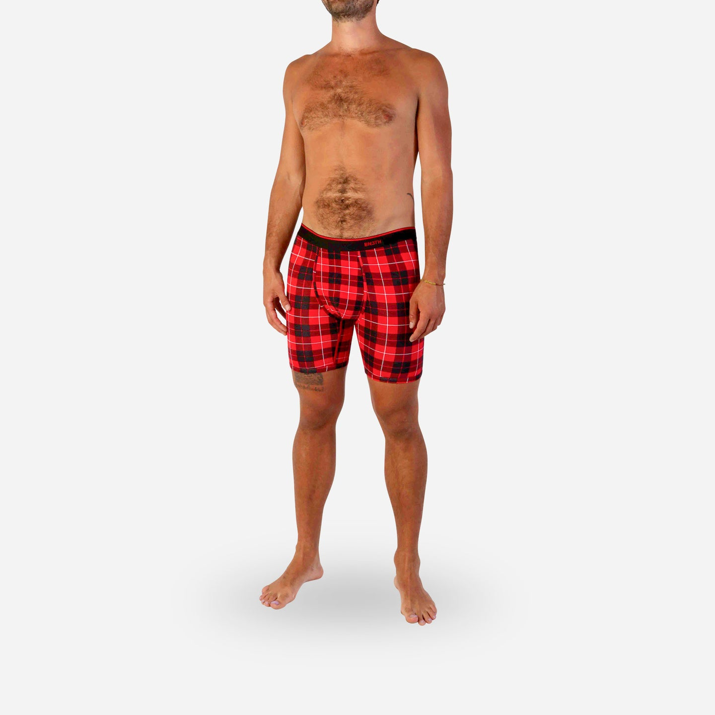 CLASSICS BOXER BRIEF: FIRESIDE PLAID RED