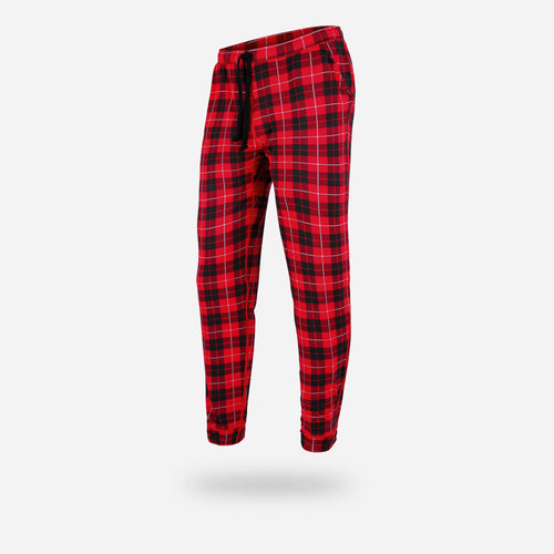 PJ LONG: FIRESIDE PLAID RED
