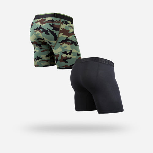 CLASSIC BOXER BRIEF: BLACK CAMO 2 PACK