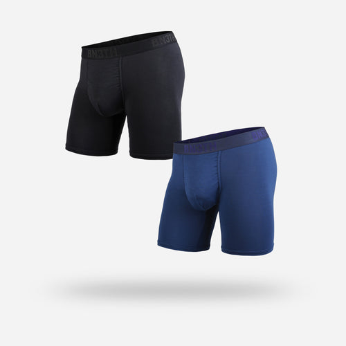 CLASSIC BOXER BRIEF: BLACK NAVY 2 PACK