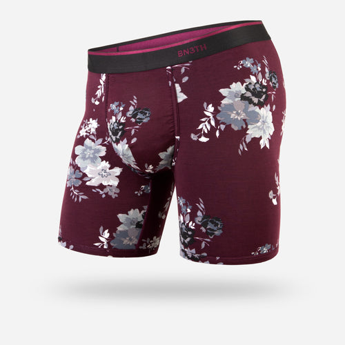 CLASSIC BOXER BRIEF: ARRANGEMENT WINE