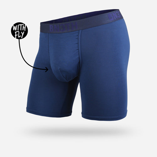 CLASSIC BOXER BRIEF WITH FLY: NAVY