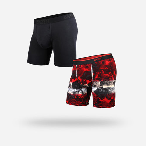 CLASSIC BOXER BRIEF: ROSE/BLACK