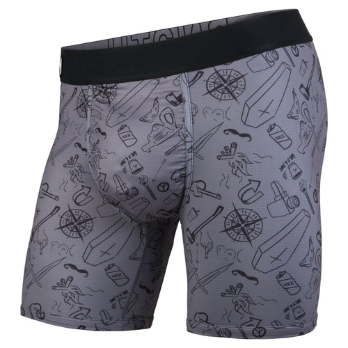 ENTOURAGE BOXER BRIEF: MORAL COMPASS/CHARCOAL | Boxer Brief