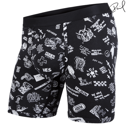 BLACK LABEL BOXER BRIEF: COLLAGE BLACK