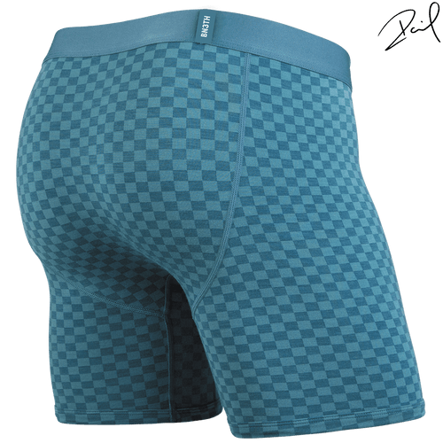 BLACK LABEL BOXER BRIEF: TONAL CHECKER HYDRO