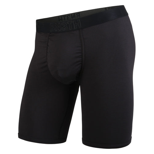 PRO BOXER BRIEF: BLACK/WHITE 8""