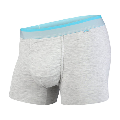 CLASSICS TRUNK: GREY HEATHER/TURQUOUISE | Trunk Boxer Brief
