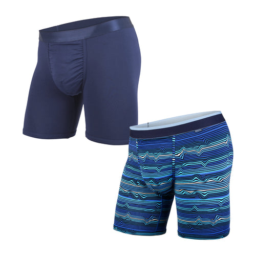 CLASSICS BOXER BRIEF 2-PACK: WARP STRIPE NAVY/NAVY