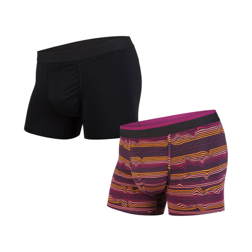 CLASSICS TRUNK 2-PACK: WARP STRIPE PURPLE/BLACK | Trunk Boxer Brief