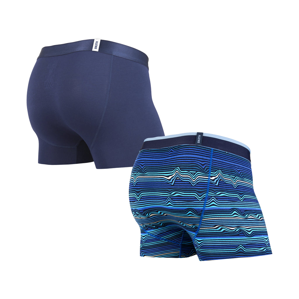 CLASSICS TRUNK 2-PACK: WARP STRIPE NAVY/NAVY