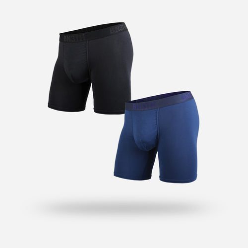 CLASSICS BOXER BRIEF 2-PACK: BLACK/NAVY