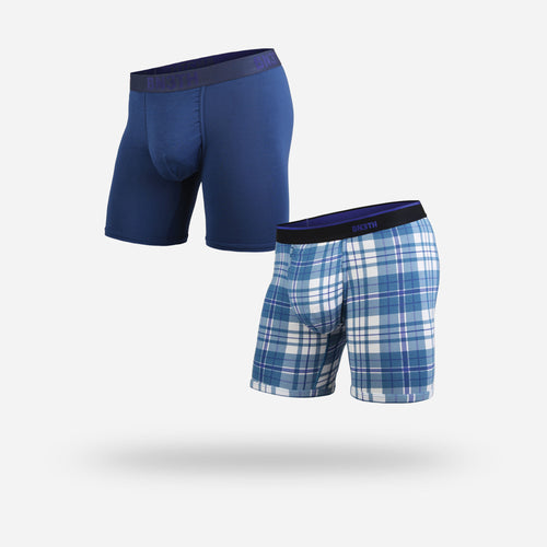 CLASSICS BOXER BRIEF 2-PACK: NAVY/NO PLAID DAYS BLUE