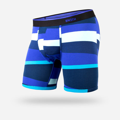 CLASSIC BOXER BRIEF: FUNKY STRIPE BLUE