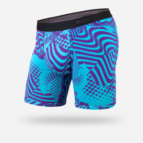 CLASSIC BOXER BRIEF: MIXTAPE TURQUOISE PURPLE