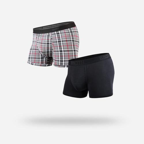 CLASSICS TRUNK 2-PACK : BLACK/FIRESIDE PLAID GREY