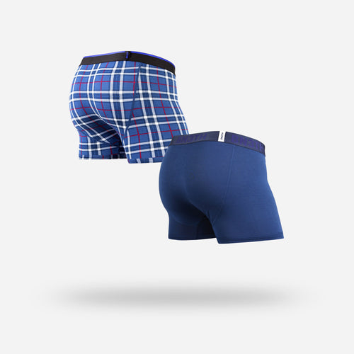CLASSICS TRUNK 2-PACK : NAVY/FIRESIDE PLAID NAVY