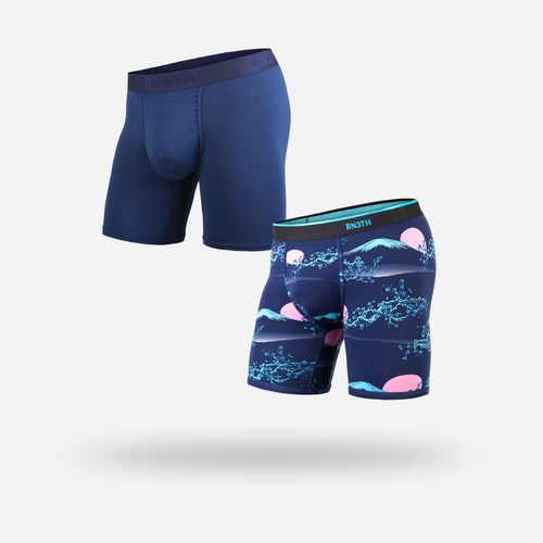 CLASSIC BOXER BRIEF: NAVY/NEW HORIZON FUJI NIGHT