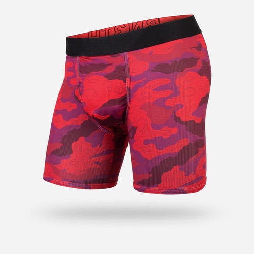 ENTOURAGE BOXER BRIEF: CAMOFLURK RED