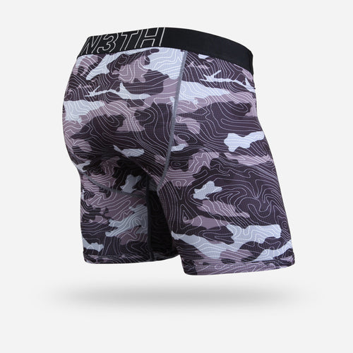 ENTOURAGE BOXER BRIEF: TOPO CAMO BLACK