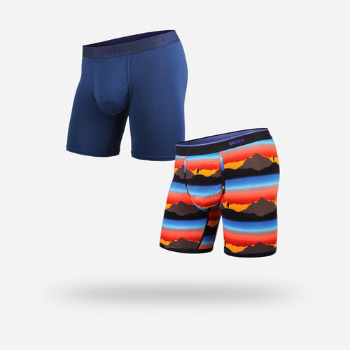 CLASSIC BOXER BRIEF: HORIZON CASCADE/NAVY
