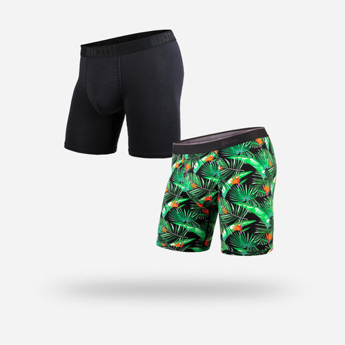 CLASSIC BOXER BRIEF: PARADISE BALI/BLACK
