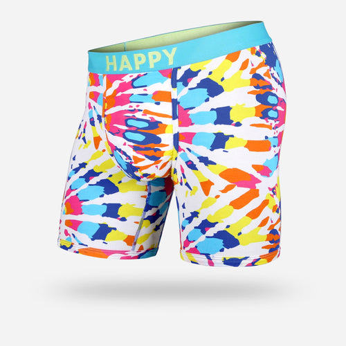 CLASSIC BOXER BRIEF : TIE DYE HAPPY
