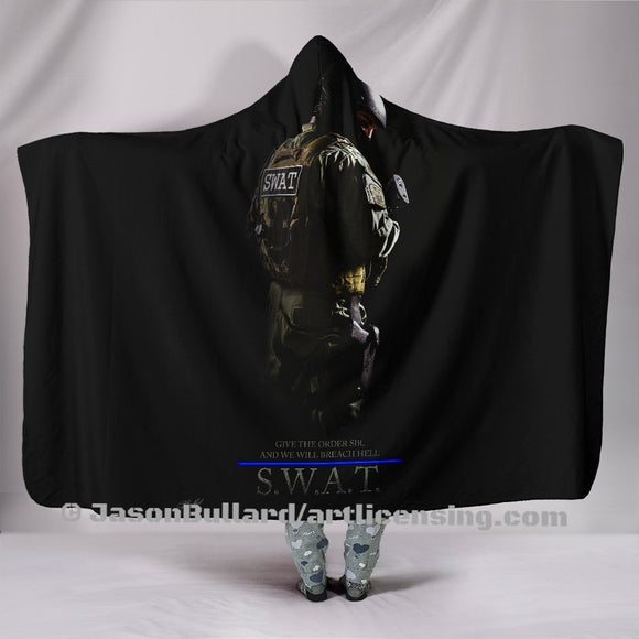 Give the Order SWAT Hooded Blanket by Trend Matrix