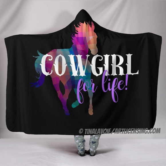 Cowgirl for Life Hooded Blanket by Trend Matrix