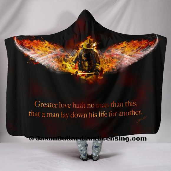 Fireman Hero Hooded Blanket by Trend Matrix