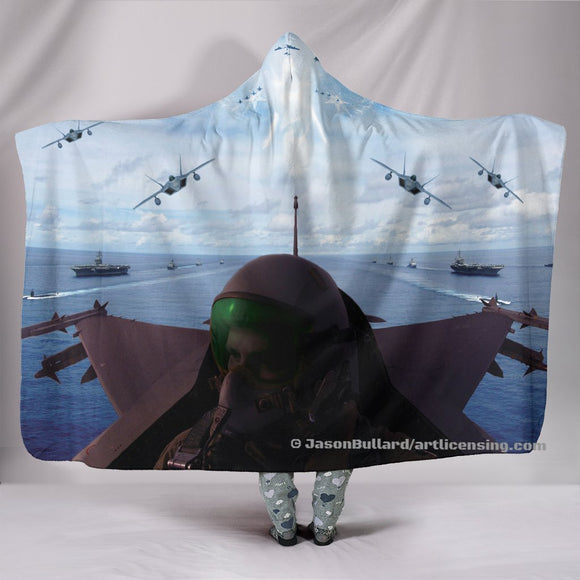 Angels Overhead Hooded Blanket by Trend Matrix