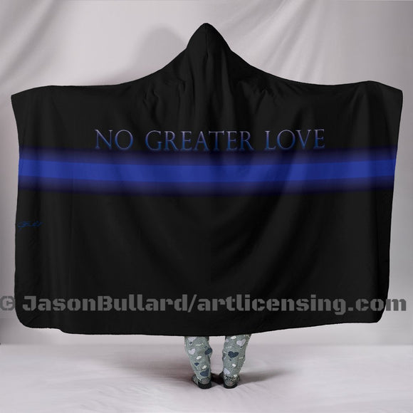 Police Hero Hooded Blanket by Trend Matrix