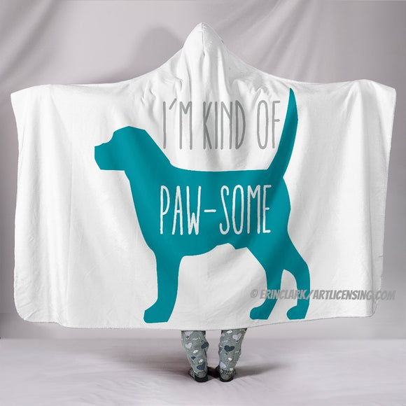 Pawsome Dog Hooded Blanket by Trend Matrix