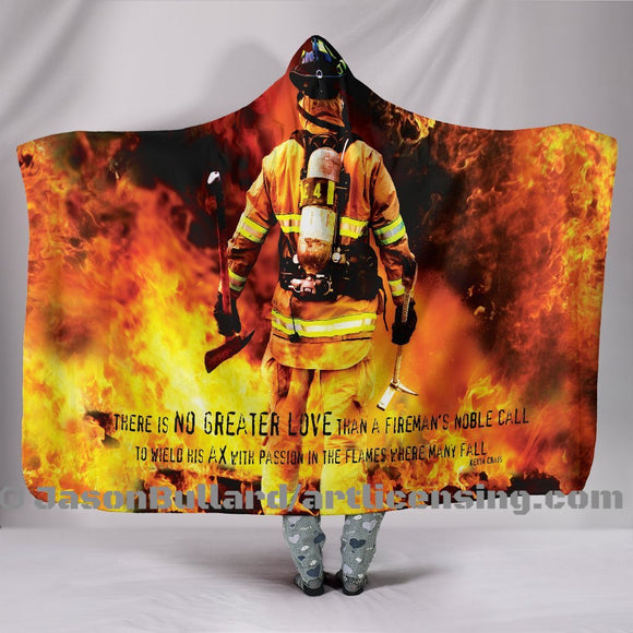 Fireman's Noble Call Hooded Blanket by Trend Matrix