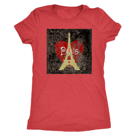 Paris Love Womens TriBlend T-Shirt