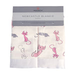 Playful Kitty Bamboo Muslin Security Baby Blankie